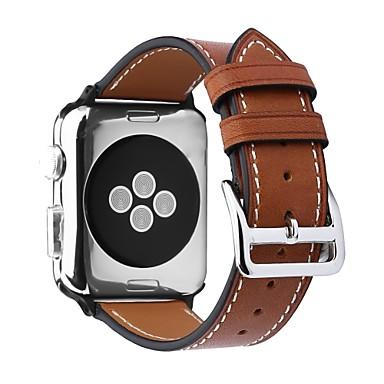 olcso Karóra tartozékok-Borjúbőr Nézd Band Szíj mert Apple Watch Series 4/3/2/1 Fekete / Barna / Pink 23cm / 9 inch 2.1cm / 0.83 Hüvelyk