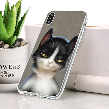 Θήκη Za Apple iPhone XS Protiv prašine / Ultra tanko / Uzorak Stražnja maska Mačka / Životinja Mekano TPU