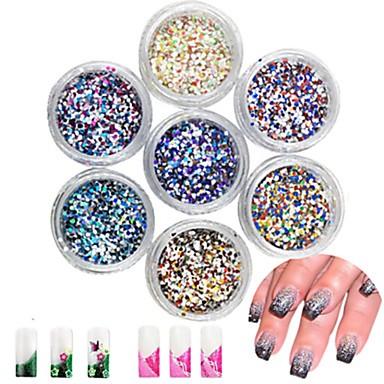 24 pcs Multi Function / Najbolja kvaliteta Eko-friendly materijal Blistati Šljokice Za Kreativan nail art Manikura Pedikura Dnevno Moda