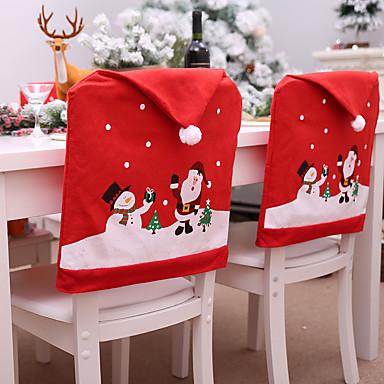 رخيصةأون تزيين المنزل-موضوع عيد الميلاد كرسي المقعد الخلفي غطاء الزخرفية الدعامة