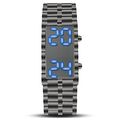 رخيصةأون ساعات الرجال-رجالي ساعة رياضية ساعة المعصم ساعة رقمية رقمي ستانلس ستيل أسود الكرونوغراف إبداعي تصميم جديد رقمي عتيق سوار - أسود سنة واحدة عمر البطارية / LCD