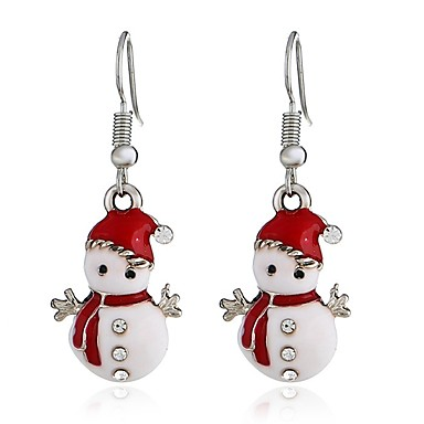 Žene Viseće naušnice Long 3D dame slatko Umjetno drago kamenje Naušnice Jewelry Pink Za Božić 1 par