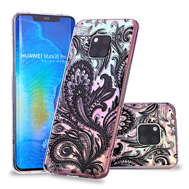 voordelige Huawei Mate hoesjes / covers-hoesje Voor Huawei Huawei Nova 3i / P smart / Huawei P Smart Plus Patroon Achterkant Lace Printing Zacht TPU