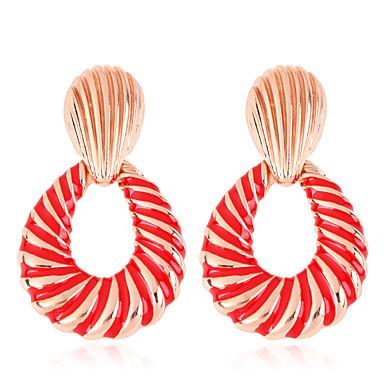 Žene Viseće naušnice Naušnice od škampa Klasičan dame Stilski Europska Pozlaćeni Naušnice Jewelry Crn / Light Red / Plava Za Klub 1 par