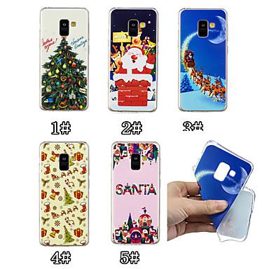 رخيصةأون حافظات / جرابات هواتف جالكسي A-غطاء من أجل Samsung Galaxy A6 (2018) / A6+ (2018) / A3 (2017) نموذج غطاء خلفي عيد الميلاد ناعم TPU