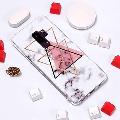olcso Galaxy S3 tokok-Case Kompatibilitás Samsung Galaxy S9 / S9 Plus / S8 Plus Minta Fekete tok Márvány Puha TPU