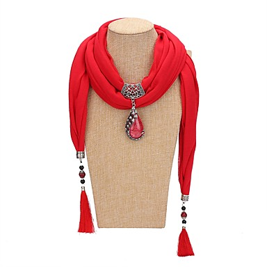 Žene Ogrlica od šalova Long dame Tropical Romantični slatko Poly / Cotton Plava Lila-roza Svijetlo zelena 200 cm Ogrlice Jewelry 1pc Za Party Zabava / večer