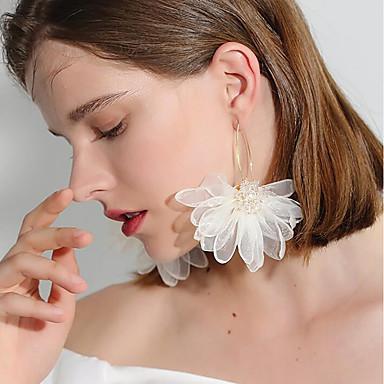 Žene Viseće naušnice 3D Cvijet dame Romantični slatko Elegantno Naušnice Jewelry Obala / Crn / Crvena Za Dnevno 1 par