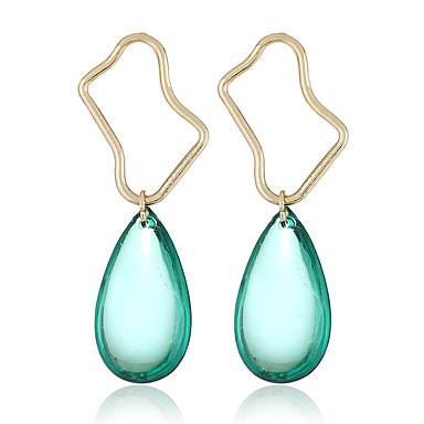 Žene Viseće naušnice Geometrijski dame pomodan Korejski Naušnice Jewelry Zlato Za Dnevno Ulica 1 par