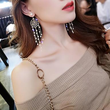 Žene Viseće naušnice dame Korejski Biseri Umjetno drago kamenje Platinum Plated Naušnice Jewelry Zlato Za Večer stranka 1 par