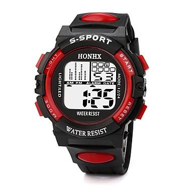 ef4962913fc0 Hombre Reloj Deportivo Reloj digital Japonés Digital Silicona Negro 30 m  Resistente al Agua Despertador Calendario Digital Moda - Negro   Rojo Negro    Azul ...