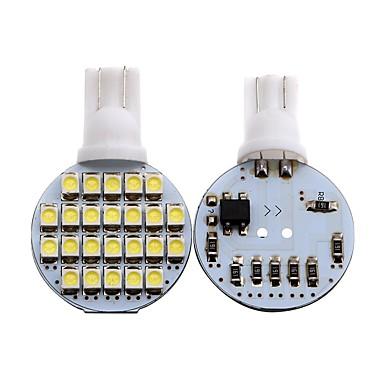 voordelige Motorverlichting-2pcs T10 Motor / Automatisch Lampen 1 W SMD 3528 80 lm 24 LED Richtingaanwijzerlicht / Interior Lights Voor Universeel Universeel Universeel