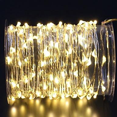 3M Žice sa svjetlima 60 LED diode Toplo bijelo Ukrasno AA baterije su pogonjene 1set