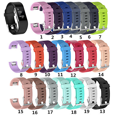voordelige Smartwatch-accessoires-Horlogeband voor Fitbit Charge 2 Fitbit Sportband Silicone Polsband