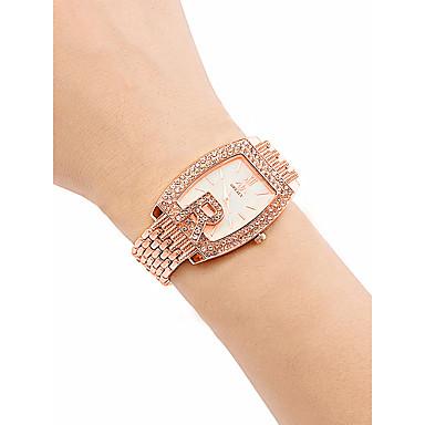Žene Ručni satovi s mehanizmom za navijanje Diamond Watch Zlatni sat Kvarc Nehrđajući čelik Srebro / Zlatna / Rose Gold 30 m Vodootpornost Kreativan Analog dame Vintage Moda - Zlato Pink Rose Gold