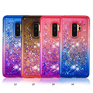 Θήκη Za Samsung Galaxy S9 / S9 Plus / S8 Plus Štras / S tekućinom Stražnja maska Prijelaz boje Mekano TPU
