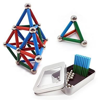 63 pcs 24*4mm, 8mm Magnetne igračke Magnetske kuglice Magnetne igračke Kocke za slaganje Snažni magneti Magnetska igračka Metalik S magnetom Stres i anksioznost reljef Uredske stolne igračke Oslobađa