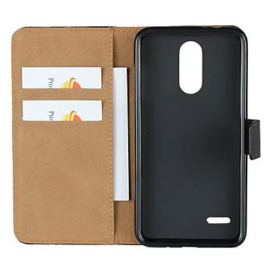 Недорогие Чехлы и кейсы для LG-Кейс для Назначение LG LG X Style / LG V30 / LG V20 Кошелек / Бумажник для карт / со стендом Чехол Однотонный Твердый Настоящая кожа / LG G6