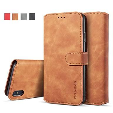78a51ab4f07 estuche para iphone xr xs xs max billetera / porta tarjetas / con estuches  de pie Cuero de pu sólido de color sólido para iphone x 8 8 plus 7 7plus 6s  ...