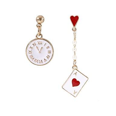 Žene Nesparene naušnice neprilagođeno Pokazivač dame Stilski Klasik Naušnice Jewelry Zlato Za Dnevno 1 par