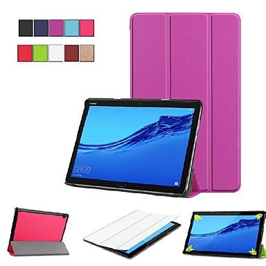 Θήκη Za Huawei Huawei Mediapad M5 Lite 10 / MediaPad M5 10 (Pro) / MediaPad M5 10 sa stalkom / Zaokret / Origami Korice Jednobojni Tvrdo PU koža