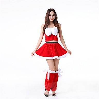 Santa Clothe Žene Odrasli Halloween Božić Božić Halloween Karneval Festival / Praznik Polyster odjeća Red Jednobojni Božić