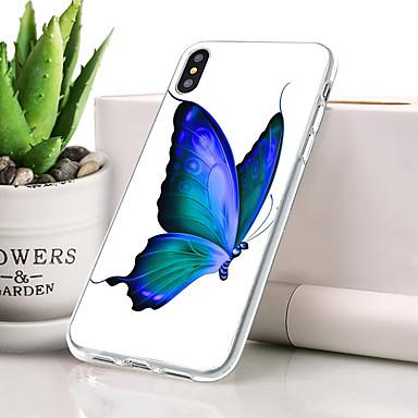 Θήκη Za Apple iPhone XR Protiv prašine / Ultra tanko / Uzorak Stražnja maska Rukav leptir / Životinja Mekano TPU