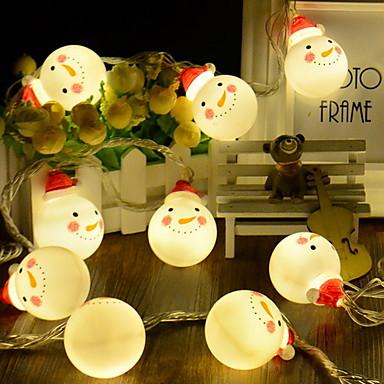 4m Žice sa svjetlima 20 LED diode Toplo bijelo Ukrasno AA baterije su pogonjene 1set