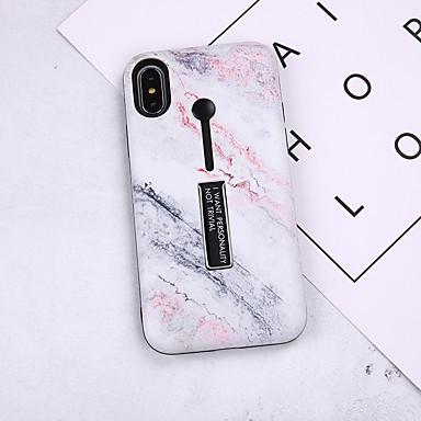 Θήκη Za Apple iPhone X / iPhone 8 Plus / iPhone 8 sa stalkom / Uzorak Stražnja maska Mramor Mekano TPU