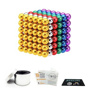 216 pcs 5mm Magnetne igračke Magnetske kuglice Magnetne igračke Kocke za slaganje Snažni magneti Magnetska igračka S magnetom Stres i anksioznost reljef Uredske stolne igračke Oslobađa ADD, ADHD