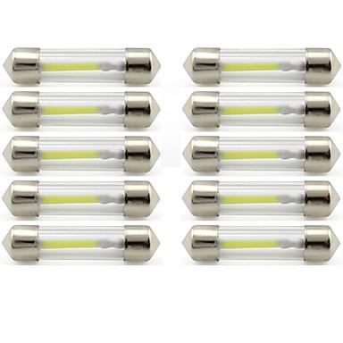 رخيصةأون أضواء السيارة الداخلية-10pcs 41mm سيارة لمبات الضوء 1 W COB 85 lm 1 LED أضواء الداخلية / أضواء الخارج من أجل عالمي عالمي / KX5 عالمي