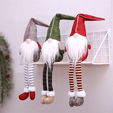Odmor dekoracije Božićni ukrasi Božićne figurice Ukrasno Sive boje / Zelen / Tamno crvena 1pc