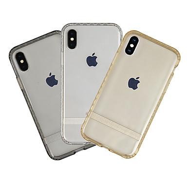 Θήκη Za Apple iPhone XS Protiv prašine / Ultra tanko / Prozirno Stražnja maska Jednobojni Mekano TPU