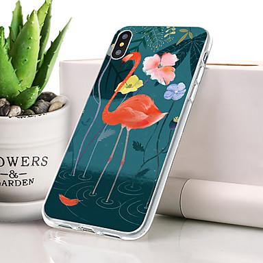 Θήκη Za Apple iPhone XS Protiv prašine / Ultra tanko / Uzorak Stražnja maska Flamingo / Životinja Mekano TPU