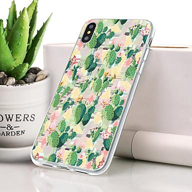 Θήκη Za Apple iPhone XS Protiv prašine / Ultra tanko / Uzorak Stražnja maska Biljke Mekano TPU za iPhone XS