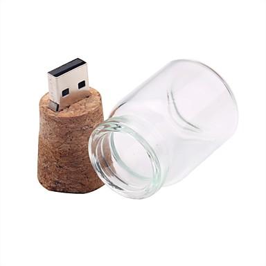 Недорогие USB флеш-накопители-бутылка messenger 16 ГБ USB 2.0 флэш-накопитель USB 64 г USB-диск стеклянный дрейф бутылка деревянная пробка беспроводного хранения
