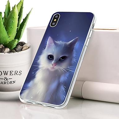 Θήκη Za Apple iPhone XS Max Protiv prašine / Ultra tanko / Uzorak Stražnja maska Mačka Mekano TPU