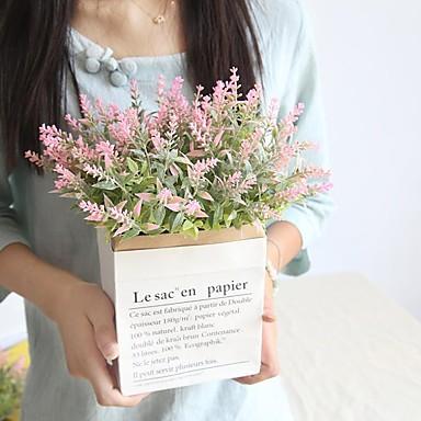 Umjetna Cvijeće 1 Podružnica Klasični Za jednu osobu Stilski Cvijeće za vjenčanje Biljke Svijetlo plava Cvjeće za stol