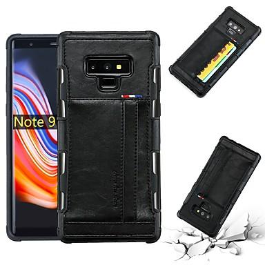 Θήκη Za Samsung Galaxy Note 9 / Note 8 Utor za kartice / Otporno na trešnju / Protiv prašine Stražnja maska Jednobojni Mekano PU koža za Note 9 / Note 8