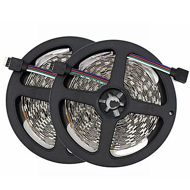 رخيصةأون شرائط ضوء مرنة LED-SENCART 10m شرائط قابلة للانثناء لأضواء LED 300/150 المصابيح SMD5050 RGB قابل للقص / ديكور / قابلة للربط 12 V 1SET / مناسبة للالسيارات / اللصق التلقي