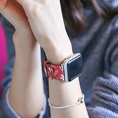 Pogledajte Band za Apple Watch Series 4 / Apple Watch Series 4/3/2/1 Apple Klasična kopča Prava koža Traka za ruku