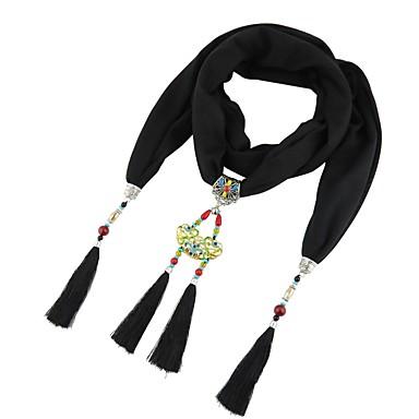 Žene Ogrlica od šalova Rese dame Kićanka Boemski stil Nature Poly / Cotton Plava Lila-roza Svijetlo zelena 180 cm Ogrlice Jewelry 1pc Za Dar
