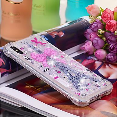 voordelige iPhone-hoesjes-hoesje Voor Apple iPhone XS / iPhone XR / iPhone XS Max Stromende vloeistof / Patroon Achterkant Landschap / Eiffeltoren Zacht TPU