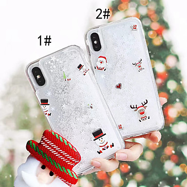 voordelige iPhone 6 Plus hoesjes-hoesje Voor Apple iPhone XS / iPhone XR / iPhone XS Max Stromende vloeistof / Patroon Achterkant Kerstmis Hard PC