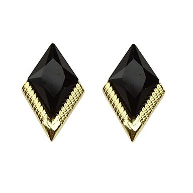 Žene Kubični Zirconia Geometrijski Sitne naušnice Naušnice dame Osnovni Moda Jewelry Crn Za Dnevno Spoj 1 par