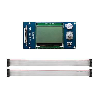 cheap 3D Printer Accessories-3D printer display MKS MINI 12864 LCD controller supports Chinese SD card side insert version