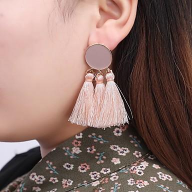 cheap Earrings-Women's Drop Earrings Tassel Spike Ladies Tassel Vintage Boho Earrings Jewelry Red / Pink / Dark Green For Evening Party Holiday 1 Pair