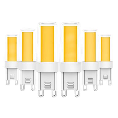 YWXLIGHT® 6kom 5 W LED svjetla s dvije iglice 400-500 lm G9 T 1 LED zrnca COB Toplo bijelo Hladno bijelo 220-240 V