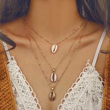 Žene slojeviti Ogrlice Duga ogrlica Više slojeva dame Europska pomodan Bikini Legura Zlato 41 cm Ogrlice Jewelry 1pc Za Izlasci Voljeni