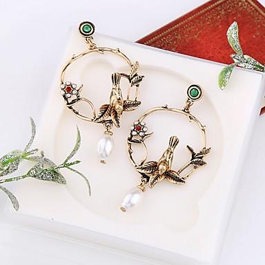 Žene Viseće naušnice 3D Ptica dame Stilski Klasik Imitacija bisera Naušnice Jewelry Zlato Za Dnevno 1 par